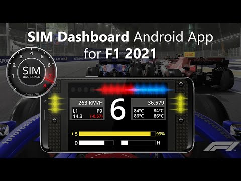 SIM Dashboard Android App for F1 2019 (PC, PS4 & XBOX)