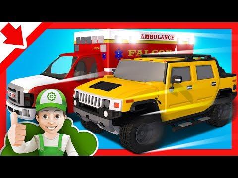 Ambulanza Cartoni animati. Ambulanza Per bambini italiano. Camion Macchine per bambini Giochi
