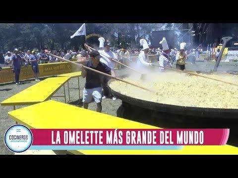 Omelette gigante en Pigüé
