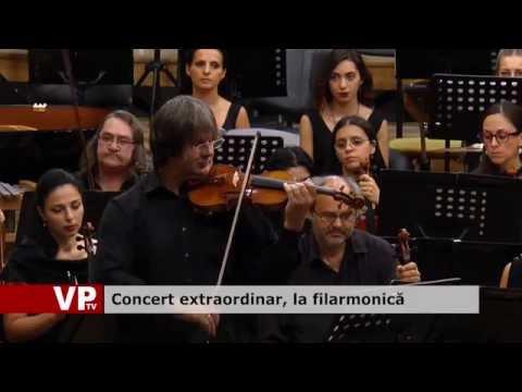 Concert extraordinar, la filarmonică