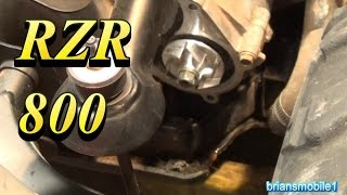 6. RZR  Water Pump Seal and Impeller Install
