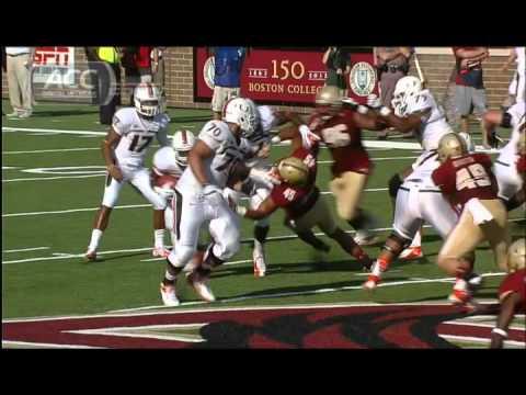 Duke Johnson 54-yard touchdown vs Boston College 2012 video.
