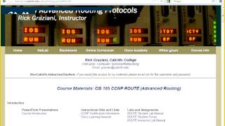 Rick Graziani   CIS 185 Advanced Routing -- Cisco CCNP ROUTE 08282012
