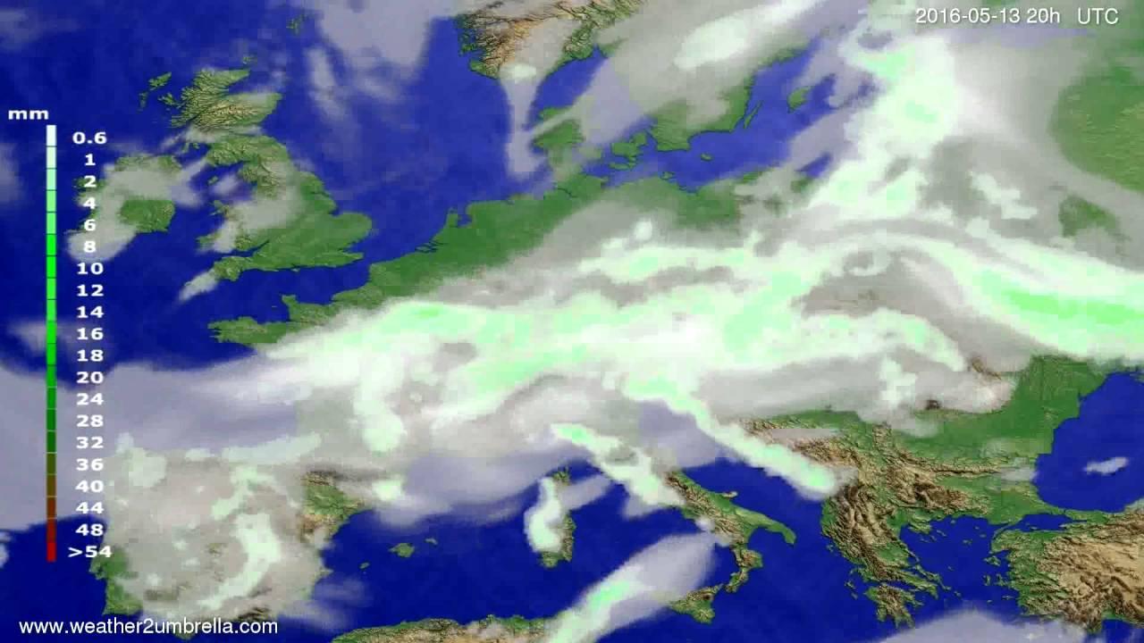 Precipitation forecast Europe 2016-05-11