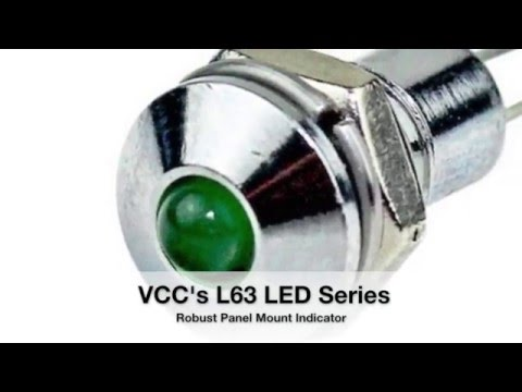 New Product Introduction from VCC: L63 LED series Robust Panel Mount Indicator