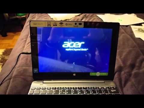 Acer Aspire One 10 (S1002) Unboxing and First Startup (Windows 10)