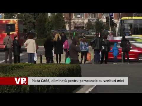 Plata CASS, eliminată pentru persoanele cu venituri mici