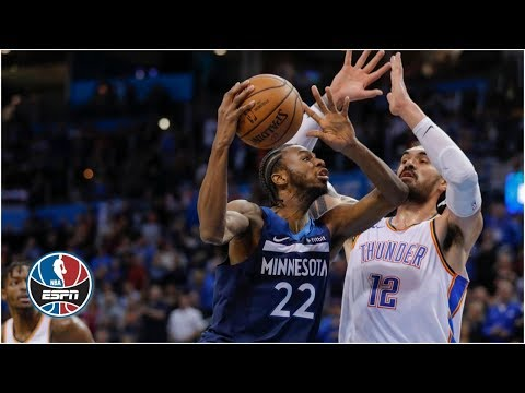 Video: Andrew Wiggins' 40 points, Russell Westbrook's late misses hand Wolves the win | NBA Highlights