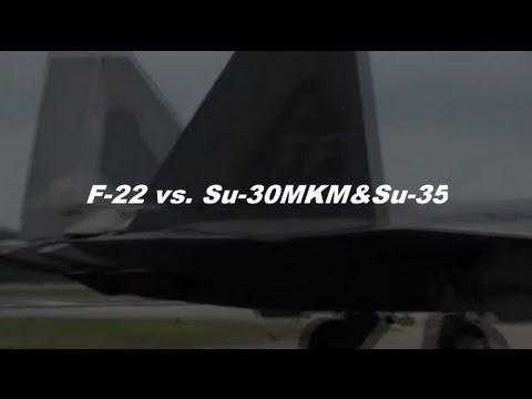 F-22とSu-30、Su-35の比較です。http://www5f.biglobe.ne.jp/~O298/base2.html