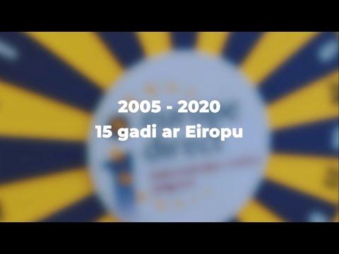 15 gadi ar Eiropu. 15 gadi par Eiropu.