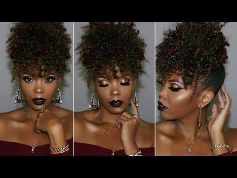 Braid hairstyles -  $15 BRAIDLESS CROCHET HIGH PUFF TUTORIAL UPDO NATURAL HAIRSTYLE EASY PINEAPPLE UPDO  TASTEPINK