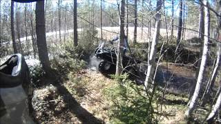 8. Atv spring mudding...modded Can Am brokes an axle...