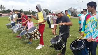 Ensayo de tropa de la Banda BINR DE HEREDIA C.R..03 DE JULIO DEL 2016...
