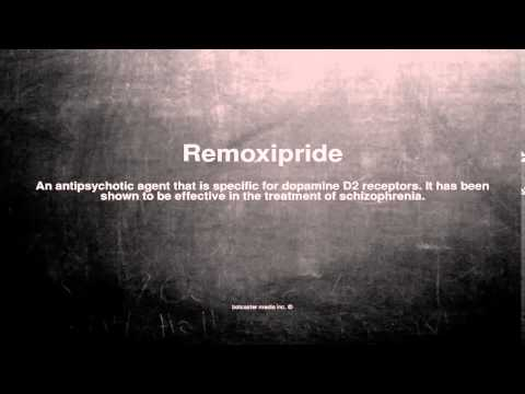 Medical vocabulary: What does Remoxipride mean