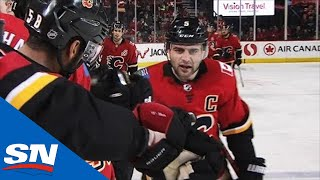 Mark Giordano Takes Matthew Tkachuk Pass, Dekes Around Calvin Pickard by Sportsnet Canada