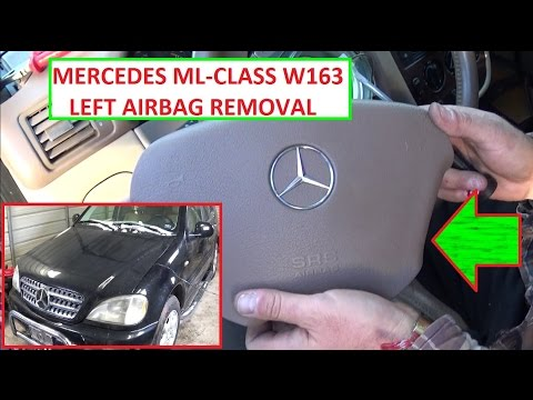 Remove and Replace Left / Steering Wheel Airbag Mercedes W163 ML230 ML320 ML270 ML350 ML400 ML430