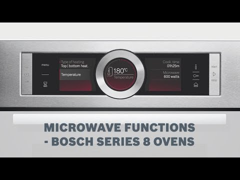 Mircrowave functions - Bosch Series 8 Ovens