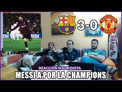 BARCELONA VS MANCHESTER UNITED 3-0 REACCIONES | CHAMPIONS LEAGUE 2019