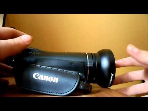 Weitwinkel Linse. - Ich vergleiche die Aufnahmen der Canon LEGRIA HF M 46 mit und ohne MINADAX Weitwinkellinse x0,5.