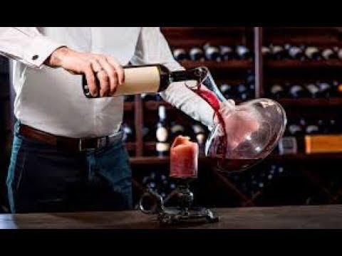 Aérateur de vin sur pied
