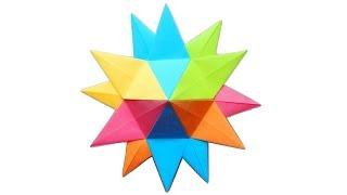Новогодняя оригами звезда из бумаги Елочные украшения