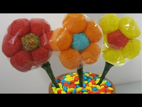 How to make a candy gum drop flower bouquet  (I✿‿✿ ) – EP