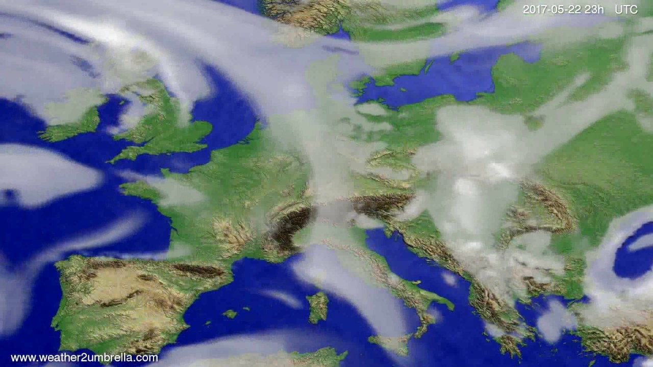 Cloud forecast Europe 2017-05-19