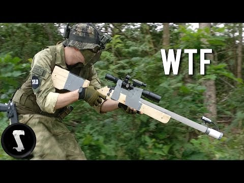 Guy Creates Home Made Airsoft Gun and Destroys the Other Team