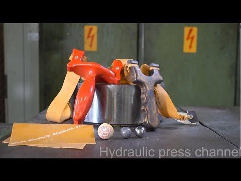 當超強的液壓機遇上「金屬球」居然會有意外的畫面,神逆轉的結果讓液壓機都受創了!