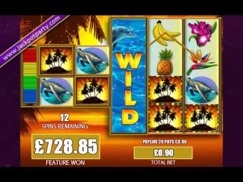 £1505 MEGA BIG WIN (1672XSTAKE) FORTUNES OF THE CARIBBEAN™ ON LINE SLOT JACKPOT PARTY CASINO