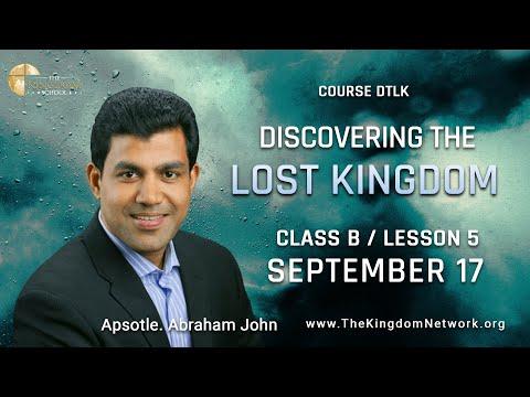 Course DTLK | Class B | Lesson 5 | September 17