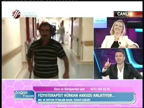Ünlü Fizyoterapist Hürkan AKKUZU , BEYAZ Tv ' de Sağlıklı Yaşam Programında PART 2