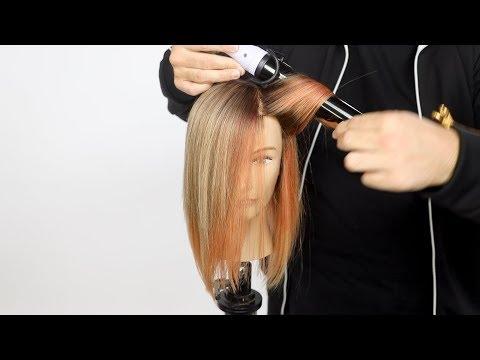 Hair cutting - Peach and Silver Hair Color Tutorial