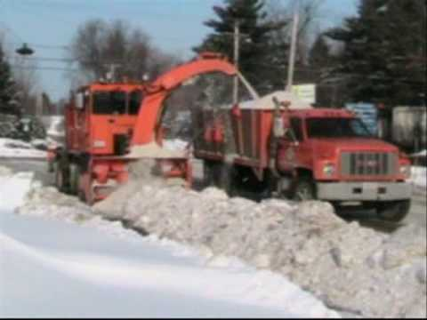 Snow Removal - City of Waterville snow removal action. Several pieces of equipment is used to remove snow from city streets. The snow dumping site is also shown at the end ...