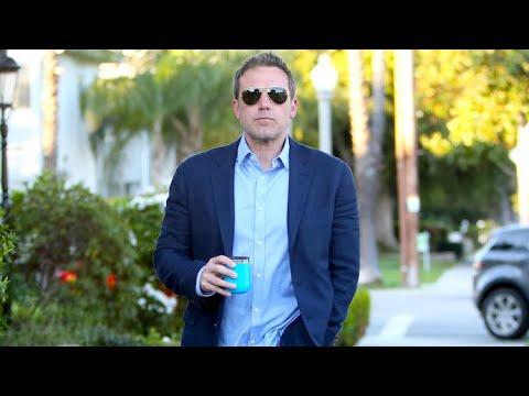 Ben Affleck Dons Crisp Blue Blazer As He Sips His Morning Coffee