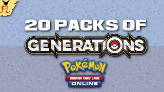 Opening 20 Packs of Generations on Pokemon Trading Card Game Online! by Flammable Lizard