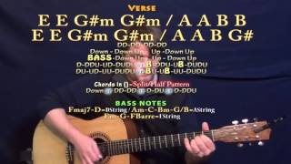 All I Ask (Adele) Guitar Lesson Chord Chart - E Major / F Major