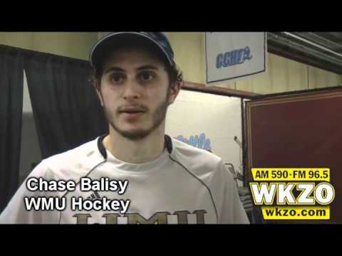 Chase Balisy speaks with WKZO following the Broncos 3-2 win over Michigan in the CCHA Championship game on March 17th, 2012.