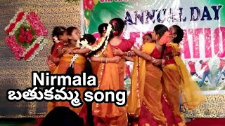 O nirmala bathukamma dance Video
