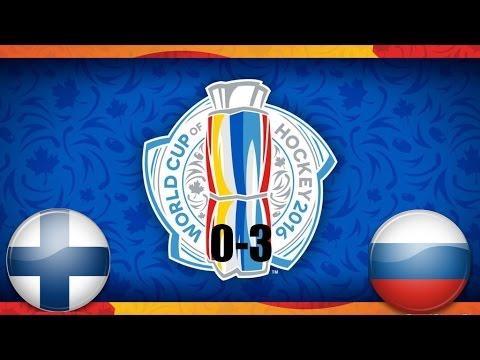 Голы Россия-Финляндия 3-0 Кубок мира по хоккею 2016 (видео)