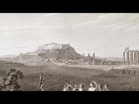 Η πόλη της Αθήνας από το Ναό του Ολυμπίου Διός (J.Stuart – N. Revett 1814)