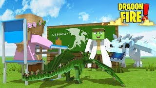 DRAGON LESSONS FROM TINY TURTLE ! | Minecraft Dragon Fire | Little Kelly