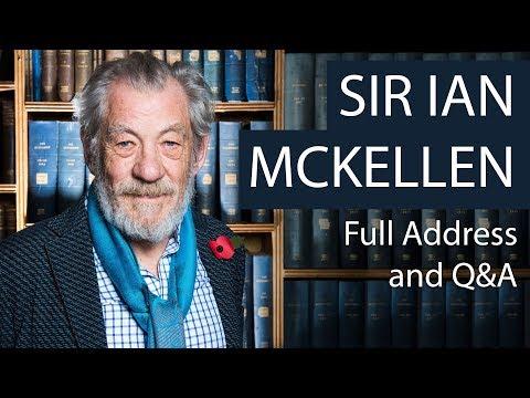 Sir Ian McKellen | Full Address and Q&A | Oxford Union