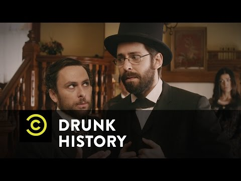 Lincoln - Allan Pinkerton and Kate Warne shepherd President-elect Abraham Lincoln through hostile territory. Watch more Drunk History: http://on.cc.com/1sVt5dg.