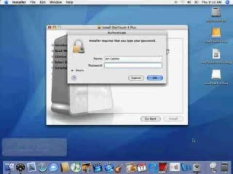 OT4 Plus Software Installation on a Macintosh