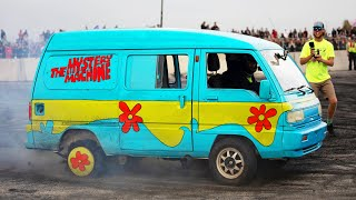 Rotary powered Mystery Machine SHREDS at Cleetus and Cars! by 1320Video