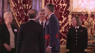 S.M. el Rey recibe a una comisión del Capítulo de Madrid de la Liga Naval de Estados Unidos