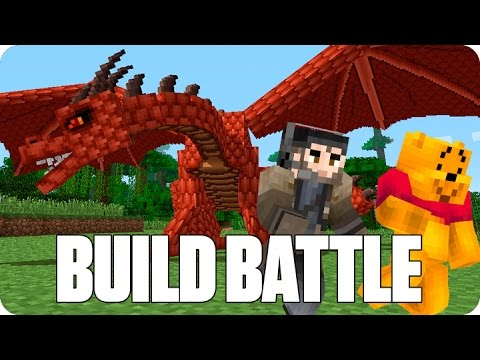 ¡BATALLA DE DRAGONES! BUILD BATTLE | Minecraft con Luh