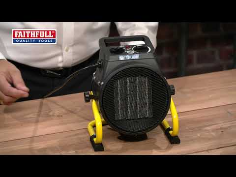 Faithfull Power Plus Ceramic Fan Heater 2kW Video