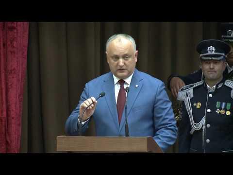Șeful statului a participat la ședința solemnă consacrată aniversării a 28-a de la crearea organelor securității statului